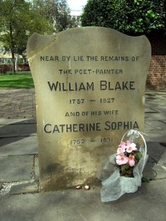 The grave of William Blake (on St George's Day)