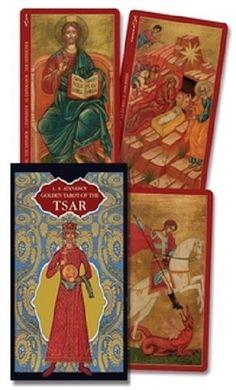 The Golden Tarot of the Tsar Gold Foil Christian Saints *CAT-atude Spiritual Enlightenment, Oracle Cards, Tarot Decks, Archetypes, Tarot Cards, Gold Foil, Booklet, Saints, Christian