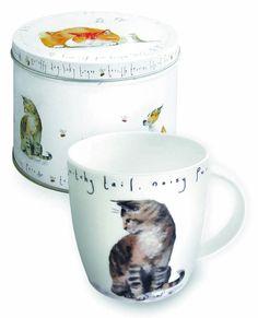 Porcelanowy kubek w blaszanym pudełku Cat Mug, Tin, Mugs, Tableware, Bowls, Gifts, Plates, Design, Porcelain Ceramics