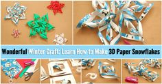 I've seen some really cool DIY snowflake crafts online, like those cut-outs made from paper (like you used to make in school) and the big wall decorations made simply by gluing a few craft sticks together. As much as I love the ease and convenience of those, they're all a bit flat. I really...