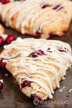 The recipe says rasberry, but I'll make white chocolate cranberry scones