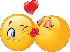kissing emoticons sticker