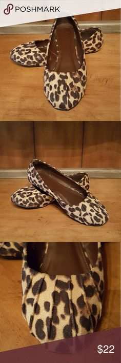 Ollio Leopard Print Ballet Flat Very cute faux suede ballet flat in leopard print. Sz 9. Worn two or three times. Excellent condition. Ollio Shoes Flats & Loafers