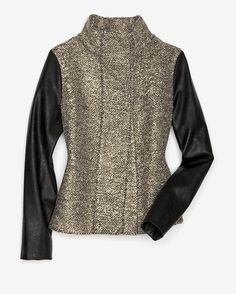 Generation Love Gold/Leather Combo Jacket