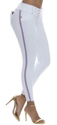 Jeans levanta cola NYE 62912 Blanco