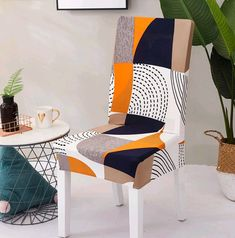 Spandex Elastic Floral Slipcovers Chair Covers Stretch Removable Dining Chair Cover With Backrest Modern Kitchen Seat Case Dining Room Chair Covers, Dining Chair Slipcovers, Dining Room Chairs, Dining Furniture, Office Chairs, Dining Set, Stretch Chair Covers, Ikea, Patterned Chair