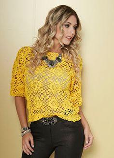 Artesanato com amor...by Lu Guimarães: Dicas de moda: Como usar blusinhas de crochê