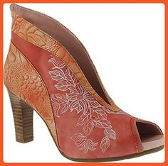 L'Artiste by Spring Step Women's Adrina Open Toe Bootie,Coral Leather,EU 40 M - Boots for women (*Amazon Partner-Link)