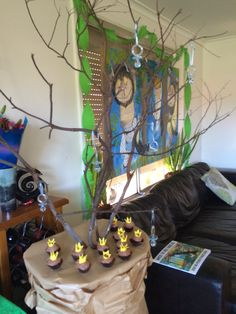 Where the wild things are!? Yummy mini cupcakes and a wishing tree for guests to hand their wishes for baby cards on!
