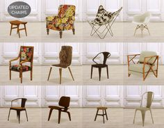 Updated chairs at MIO via Sims 4 Updates