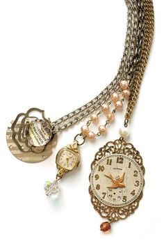 Made from parts from vintage watches (along with other ...