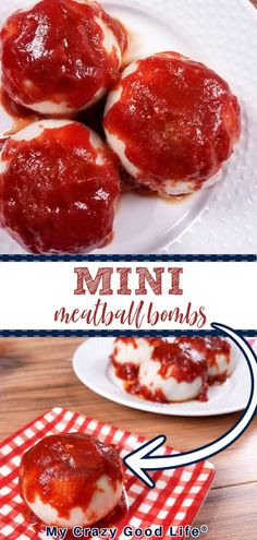 These Mini BBQ Meatloaf Onion Bombs are a delicious and easy healthy dinner that everyone in your family will love! You can make these BBQ Meatballs in the Instant Pot, Crockpot or oven. They're a healthy 21 Day Fix and Weight Watchers dinner recipe! Ww Recipes, Crockpot Recipes, Dinner Recipes, Healthy Recipes, 21 Day Fix Diet, 21 Day Fix Meal Plan, Bbq Meatloaf, Mini Meatballs, Weight Watcher Dinners