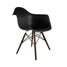 Vortex Walnut Wood Leg Dining Arm Chairs (Set of 2)