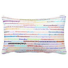 Greensboro Text Design II Lumbar Pillow