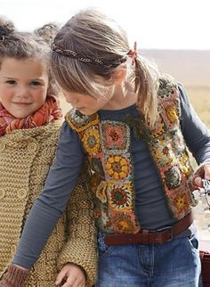 Crochet vest pattern. This link gives yarn colours used. Pattern appears in Bergere de France's new 2012/13 patterns and sample book, (which looks to be mostly knitting related)