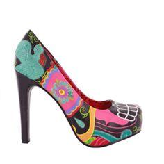 Iron Fist SUGAR SUGAR Platform Pump cute Shoes embroidered bird flowers colorful #IronFist #platforms