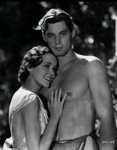 Maureen O'Sullivan & Johnny Weissmuller - Tarzan the Ape Man (1932)