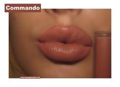 Kylie Velvet Liquid Lipstick in Commando Swatch. Click pic for full post