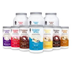 Designer Whey Powders, I've been won over when I found these at Woodmans last week and I don't like protein powders. But these are really good and no after taste.