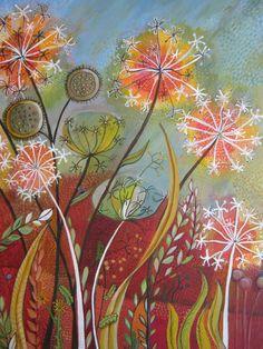 make a wish dandelion painting