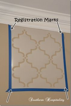 Large Moorish stencil tutorial. Would love to do this in a beige with a slightly lighter shad of cream for an accent wall...  subtle but lovely.