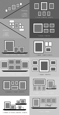 Some great layout ideas for hanging picture frames Doing some decorating at home? Check out these handy layout ideas for hanging picture frames. Add your comment below