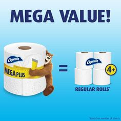 Pack contains 18 mega rolls (362 sheets per roll) of ultra-soft toilet paper Softer way to get clean and use less vs. the leading bargain brand Our softest 2-ply toilet paper Clog-safe and septic-safe; roto-rooter approve Softer and 75% more absorbent and you can use up to 4X less vs the leading bargain brand 18-mega p Helping Cleaning, Best Deals Online, 2 Ply, Toilet Paper, Branding Design, Rolls, Strong, Bath, How To Plan