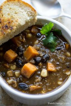 Healthy comfort food…it's a thing! This mildly-spiced chipotle chili is savory and slightly sweet. Perfect for meatless Monday, tailgating, or weekday lunches. Gluten free, vegan, and doesn't suck. It rocks! thekitchengirl.com