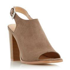 Head Over Heels Iona peep toe block heel sandals, Mink