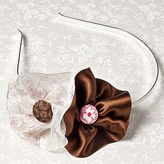 How to make a ribbon flower alice band