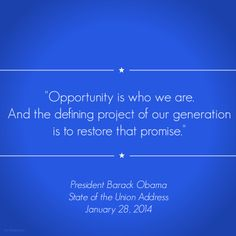In his fifth State of the Union, President Obama spoke directly to the highest aspirations of the American people by defining a vision of optimism, action, and #opportunityforall. #SOTU