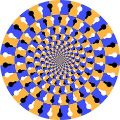If you stare directly at the image it stops spinning!