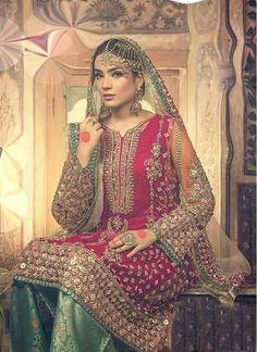 Pakistani Dresses Online Shopping in Pakistan. Buy Pakistani Dresses Online in P… - well Pakistani Wedding Outfits, Pakistani Wedding Dresses, Bridal Outfits, Indian Dresses, Pakistani Mehndi Dress, Nikkah Dress, Pakistani Couture, Mehendi, Pakistani Dresses Online Shopping