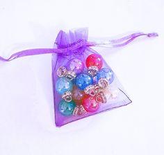 Organza Bags - 25 Small Organza Bags - 2.75 x 3.5 Purple Organza Jewelry Bags - Sheer Bags - Voile Drawstring Bag - Party Favor Bags - BG206 #craftsupply #smallbiz