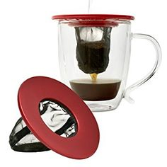 ** A special product just for you.: Primula Single Serve Coffee Brew Buddy - Nearly Universal Fit - Ideal for Travel - Eco-Friendly Reusable Fine Mesh Filter - Dishwasher Safe - Red at Gift Ideas . Red Coffee Maker, Single Cup Coffee Maker, Single Serve Coffee, All You Need Is, Camping Coffee, Pour Over Coffee, Thing 1, Coffee Filters, Best Coffee