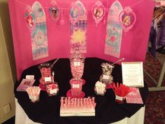 Pretty Princess Candy Buffet by A Sweet Event. Candy Buffet, Buffets, 2nd Birthday, Princess, Sweet, Pretty, Candy, Buffet, Candy Stations