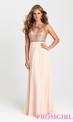 d9e68db28ba Long Madison James Open Back Prom Dress at PromGirl.com Plus Size Formal  Dresses