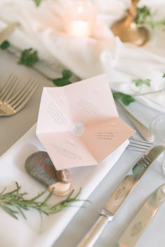Place Setting by Paperknots - Anna Campbell Bride Elegant Wedding With Pastel Colour Scheme Stationery by Paperknots Styling by The Wedding Stylist Image by Emma Pilkington