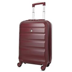Aerolite Super Lightweight ABS Hard Shell Travel Carry On Cabin Hand Luggage Suitcase with 4 Wheels, Approved for Ryanair, easyJet, British Airways, Virgin Atlantic and Many More - Top Luggage UK Hand Luggage Suitcase, Cabin Luggage, Luggage Case, Light Luggage, Luggage Deals, Childrens Luggage, Viajes, Bags