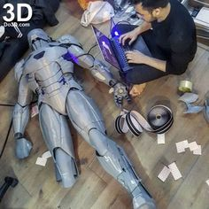 can find Printing and more on our 3d Printing Business, 3d Printing Diy, 3d Printer Designs, 3d Printer Projects, 3d Projects, Iron Man Suit, Iron Man Armor, Mark 46, Pepakura Iron Man