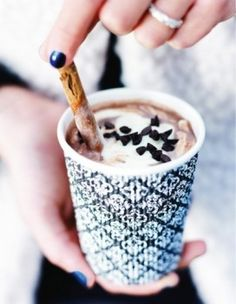 Learn how to prepare this easy Spiced Mocha recipe like a pro. With a total time of only 15 minutes, you'll have a delicious beverage ready before you know it. Mini Chocolate Chips, Hot Chocolate, Mocha Recipe, Winter Drinks, Sweet Recipes, Food Porn, Food And Drink, Yummy Food, Snacks