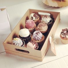 You'd better keep your cupcakes in a safe place! Find cardboard trays for your cupcakes here: http://selfpackaging.com/2211-cardboard-tray-73.html