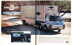prototype semi trucks | 1966 Chevrolet Turbo Titan Prototype Semi Classic Vintage Print Ad