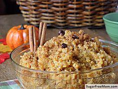 Creamy Pumpkin Quinoa {Gluten & Sugar Free} | Sugar-Free Mom