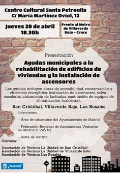 Gente de Villaverde: Ayudas municipales a la rehabilitación de Edificio...