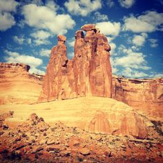 'The Three Gossips' rock formation in #ArchesNationalPark - #Moab, #Utah