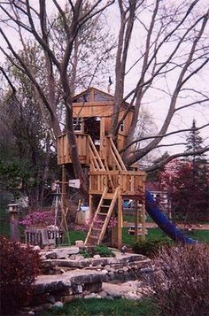Website with lots of tree houses. This one looks the most kid-friendly.