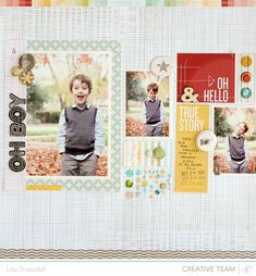 #papercraft #scrapbook #layouts - Lisa Truesdell for Studio Calico Snippets  Get Studio Calico at www.craftysteals.com