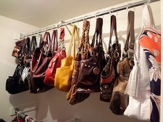 Purse Storage Organizer Best House Design Best Organizer For Purse pertaining to 20 Awesome Closet Ideas For Purses Diy Purse Closet Organizer, Organizing Purses In Closet, Handbag Storage, Handbag Organization, Organizing Your Home, Closet Organization, Organize Purses, Diy Organizer, Purse Hanger