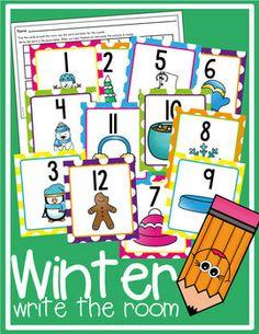 Winter Write the Room FREE
